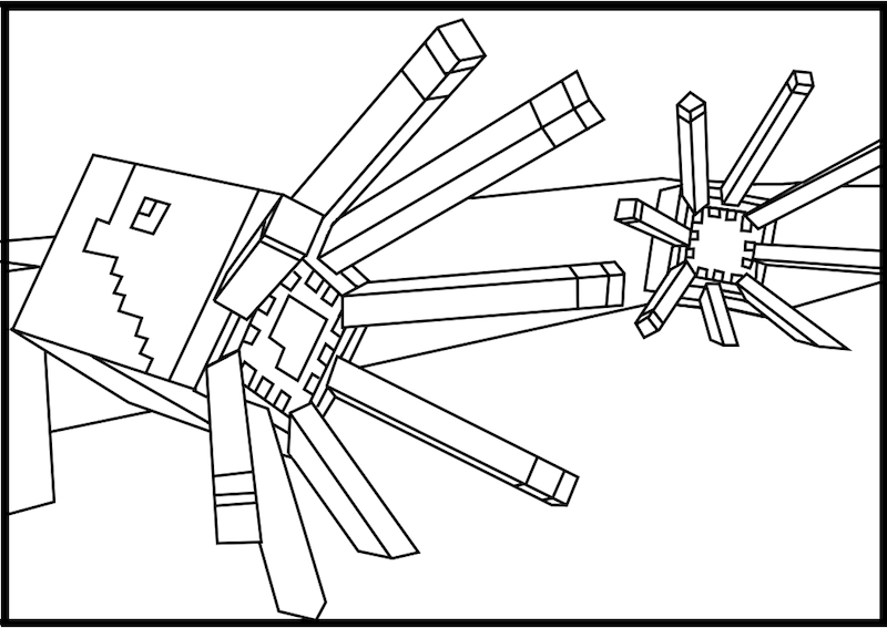 Minecraft Coloring Pages Printable Wither Boss