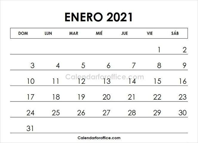January 2021 Calendar Spanish 2021 Calendar April Calendar