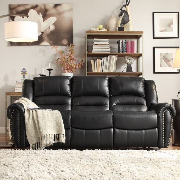 Tribecca Home Isaac Bonded Leather Double Reclining Sofa - Overstock™ Shopping - Big Discounts on Tribecca Home Recliners