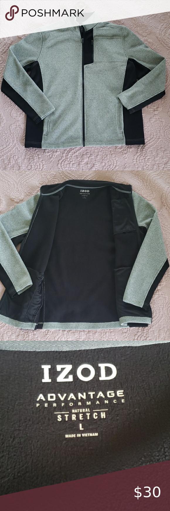 Mens Izod Jacket Size Large Izod Gym Shorts Womens Jackets [ 1740 x 580 Pixel ]