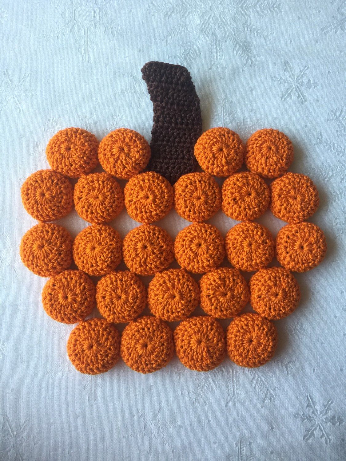 Pumpkin Trivet 15 Use Coupon Code Pin10 For 10 Off Crochet Home