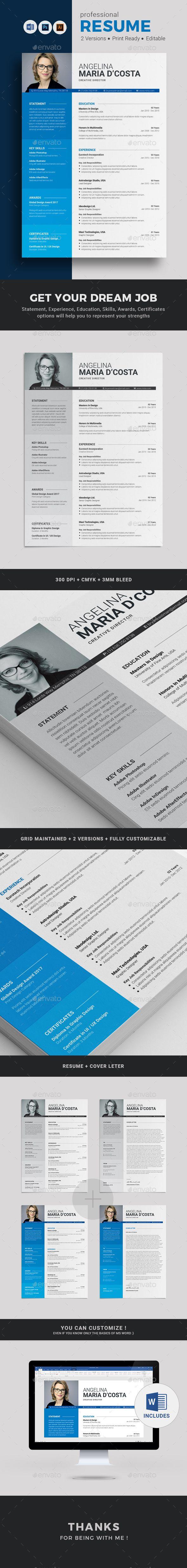 Senior Graphic Designer Resume A4 Resume Blue Resume Career Resume Clean Resume Color Resume .