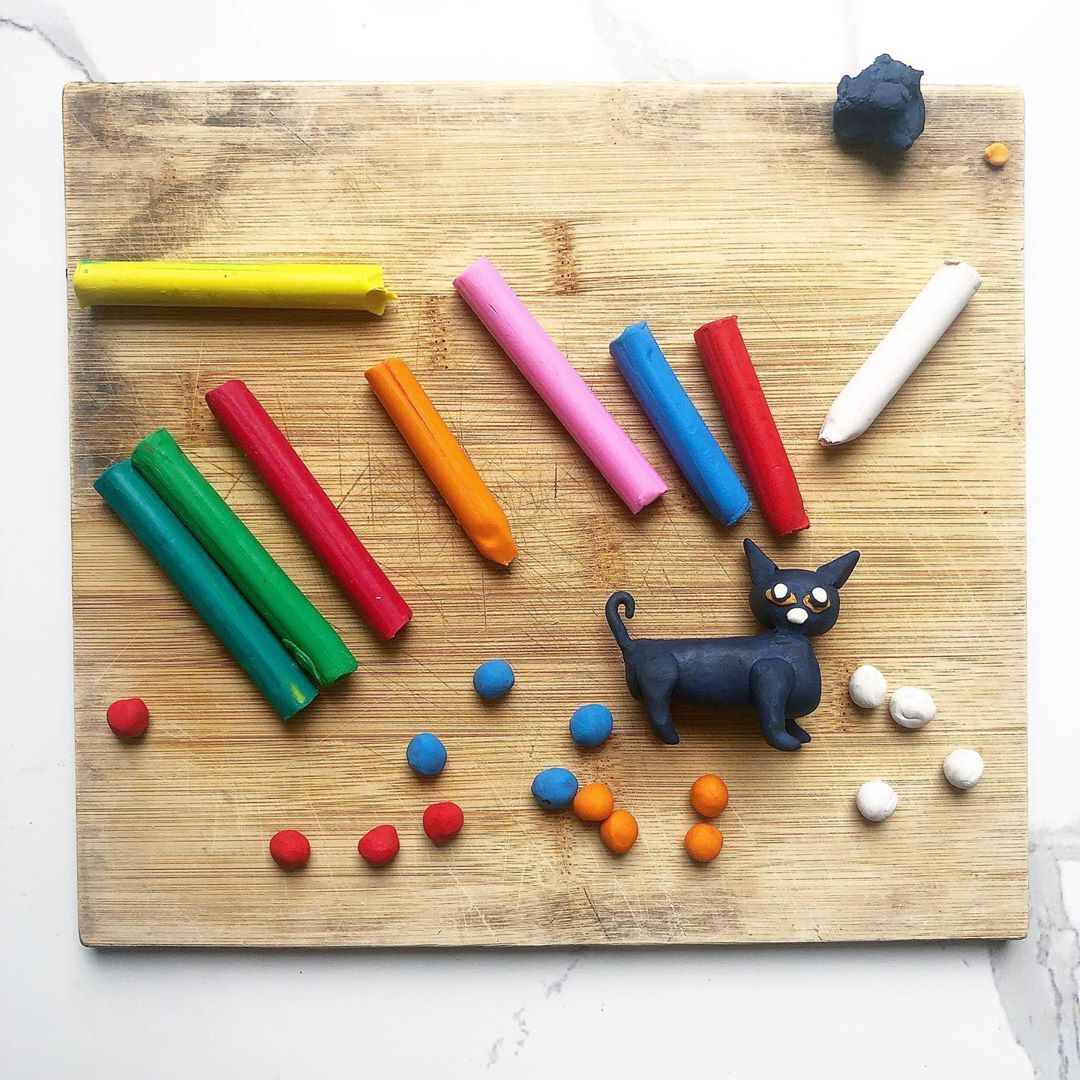 Back to basics. I remember playing with these modeling clay as a child 30 years ago. Not play-dough,...