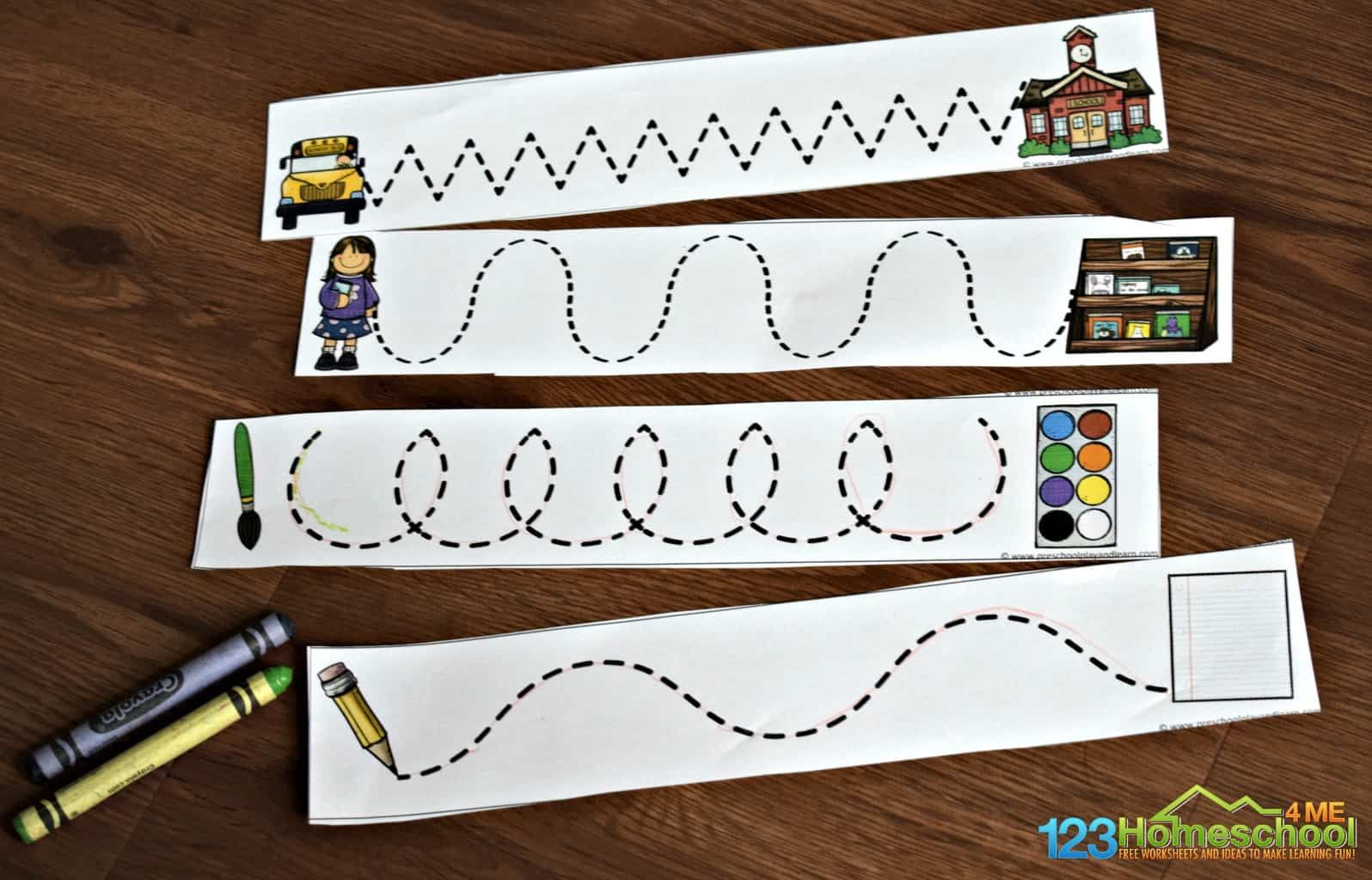 Back To School Tracing Lines