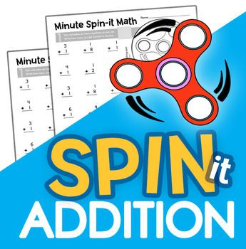 Fidget Spinner Minute Math Drills: Addition | Pinterest | Math ...