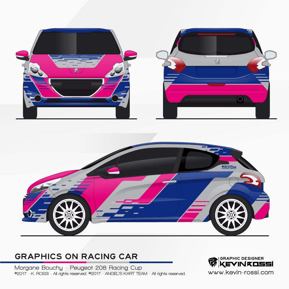 Car livery design for french racing driver, Bouchy