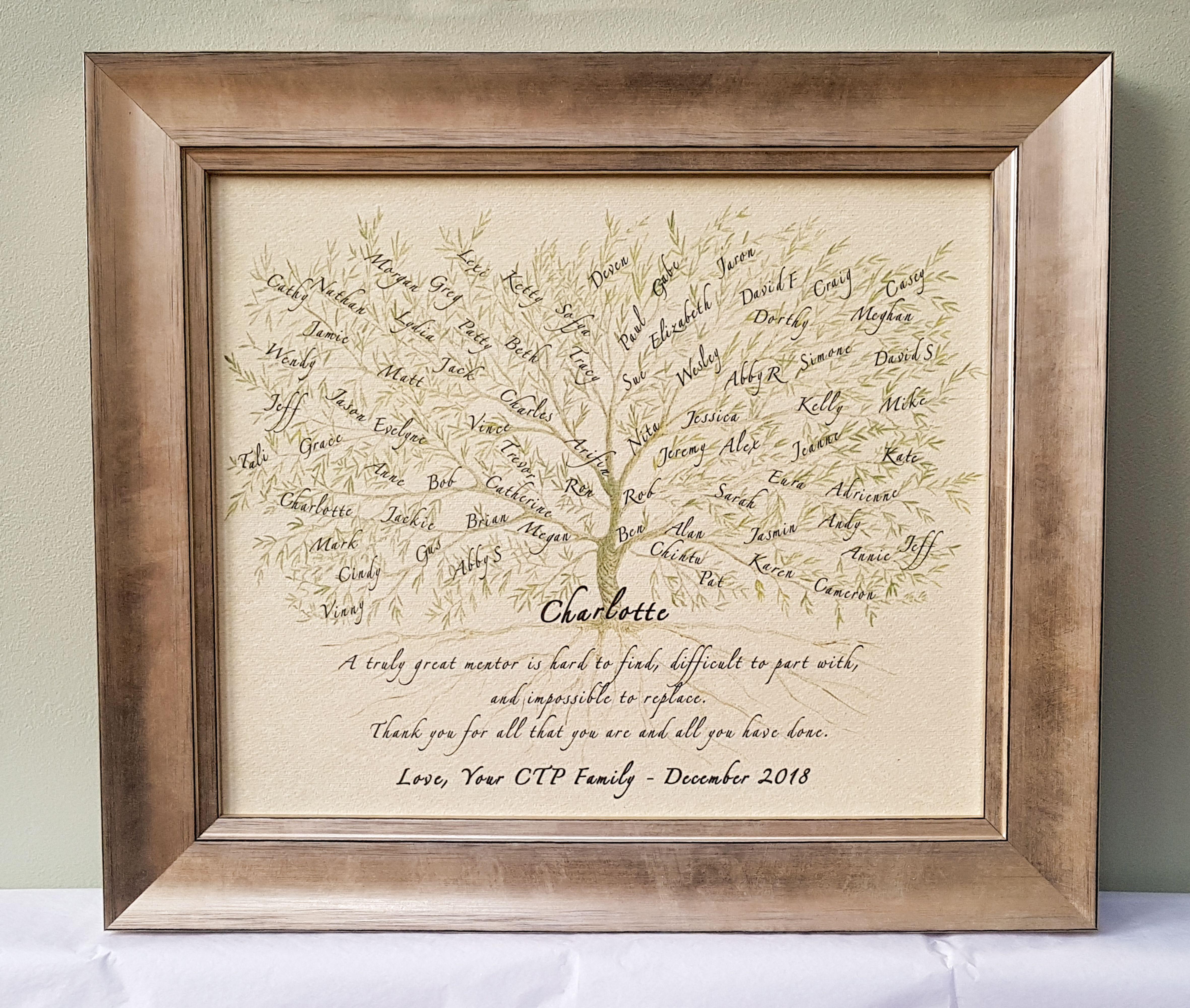 Framed art print leaving retirement promotion