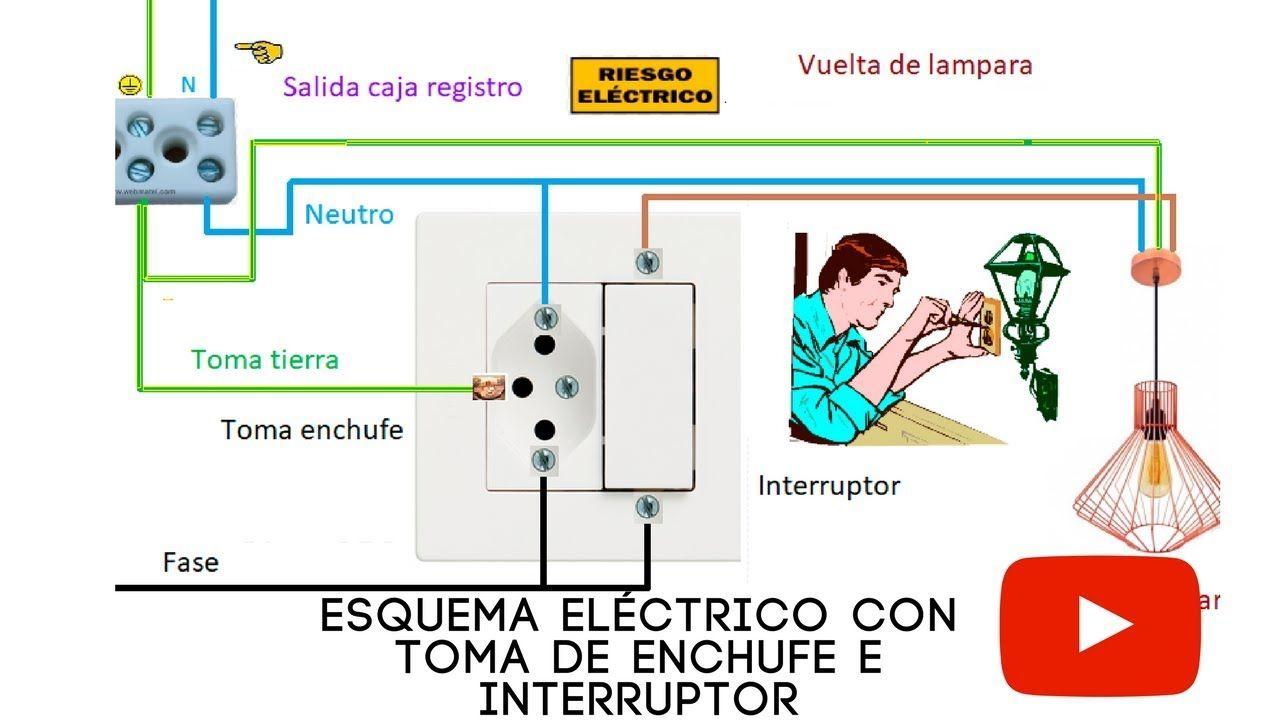 Esquema Eléctrico Con Toma De Enchufe E Interruptor Esquemas Electricos Electrica Enchufe