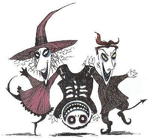 Lock, Shock, & Barrel by Tim Burton (craftster.org) | Nightmare before christmas drawings, Nightmare before christmas tattoo, Christmas tattoo
