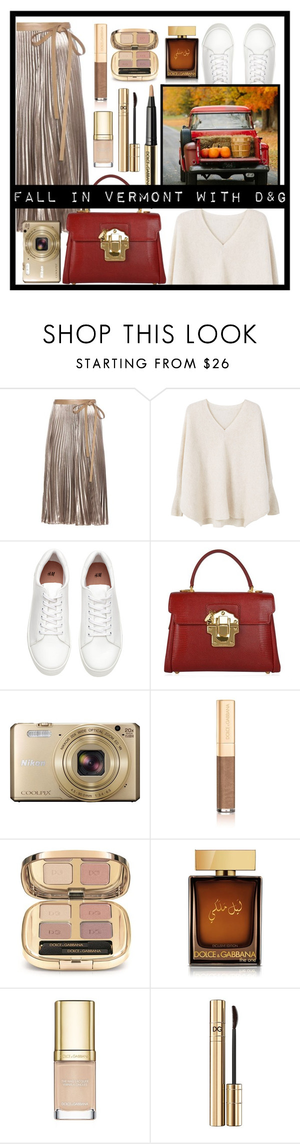 """fall in vermont"" by khavac ❤ liked on Polyvore featuring Valentino, MANGO, Dolce&Gabbana and Nikon"