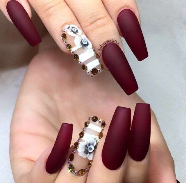Love the coffin nail and Color!! | Nails | Pinterest | Coffin nails ...