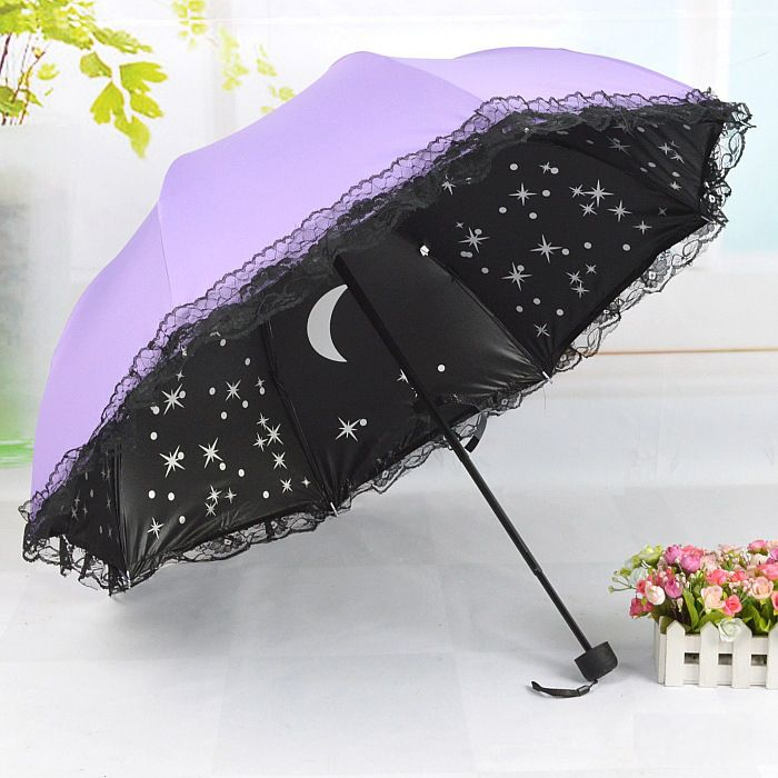 New fashion Starry Lace Foldable Umbrella from Harajuku Fashion Style