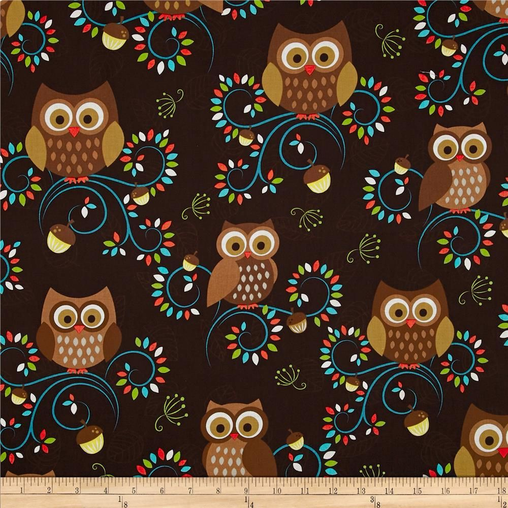 Brn owls owly luv pinterest michael miller accent colors and owl