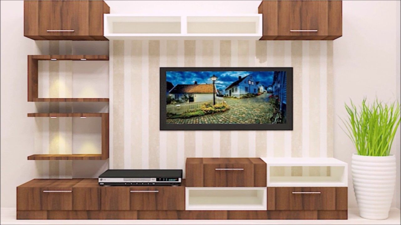 Unique Wall Shelves Create A Tidy Niche For The Television  # Meuble Tv Floyd