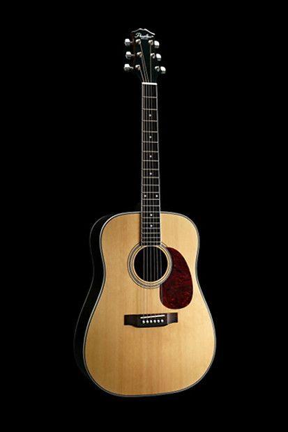 Peerless Pd 55e Acoustic Guitar Dreadnought Solid Spruce Top Fishman Prefix Plus T Pickup Eq Hitchhiker Music Reverb Guitar Solid Acoustic Guitar