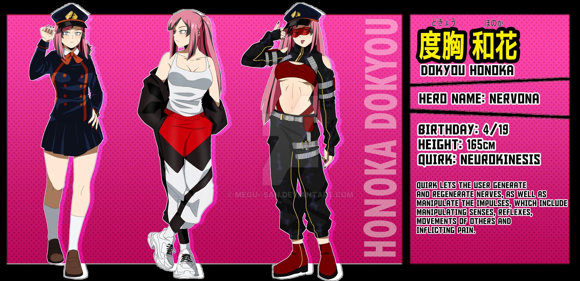 [BNHA OC] Honoka Dokyou by megusan on DeviantArt in