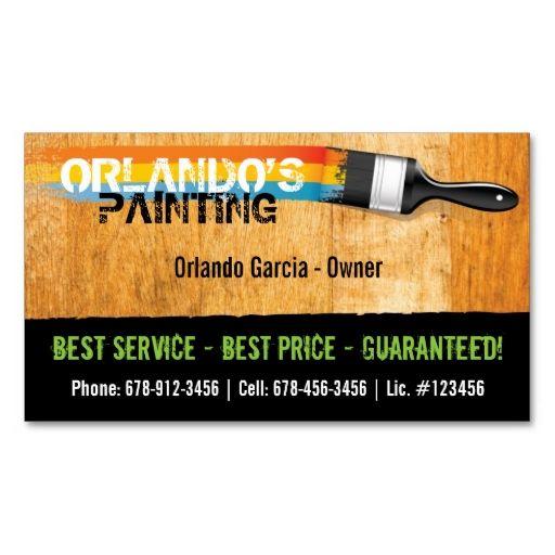 Painter S Business Card Zazzle Com Painter Business Card Business Card Texture Business Card Design Inspiration