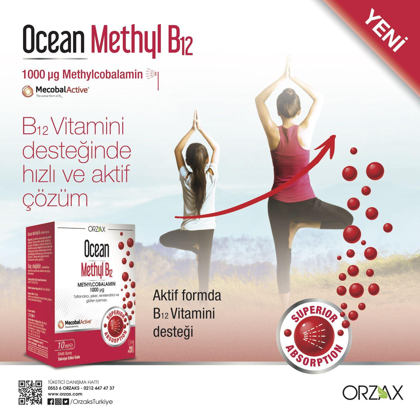 Ocean Methyl B12 Vucudun Direkt Kullanabilecegi Aktif Formda B12 Vitamini Iceren Gida Takviyesidir Yenilikci Dilalti Sprey Formda Sunu Instagram Urunler Gida