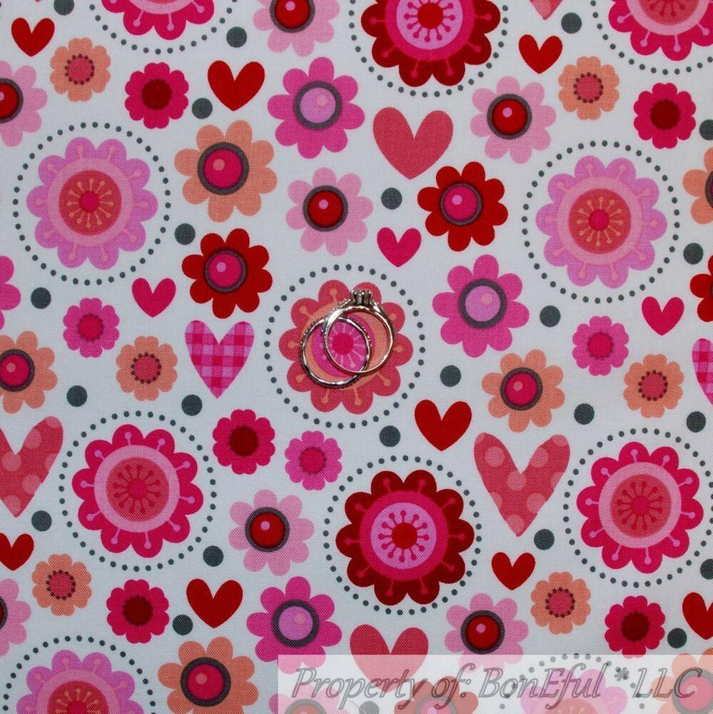BonEful Fabric FQ Cotton Quilt Spring Rose Flower Bud VTG Blue Yellow Pink Retro