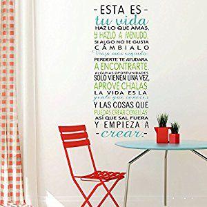 Vinilo pared esta es tu vida vinilos decorativos de for Vinilos pared frases
