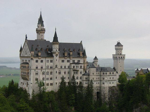 Schloss Neuschwanstein From Marienbrucke Schloss Neuschwanstein Neuschwanstein Schloss