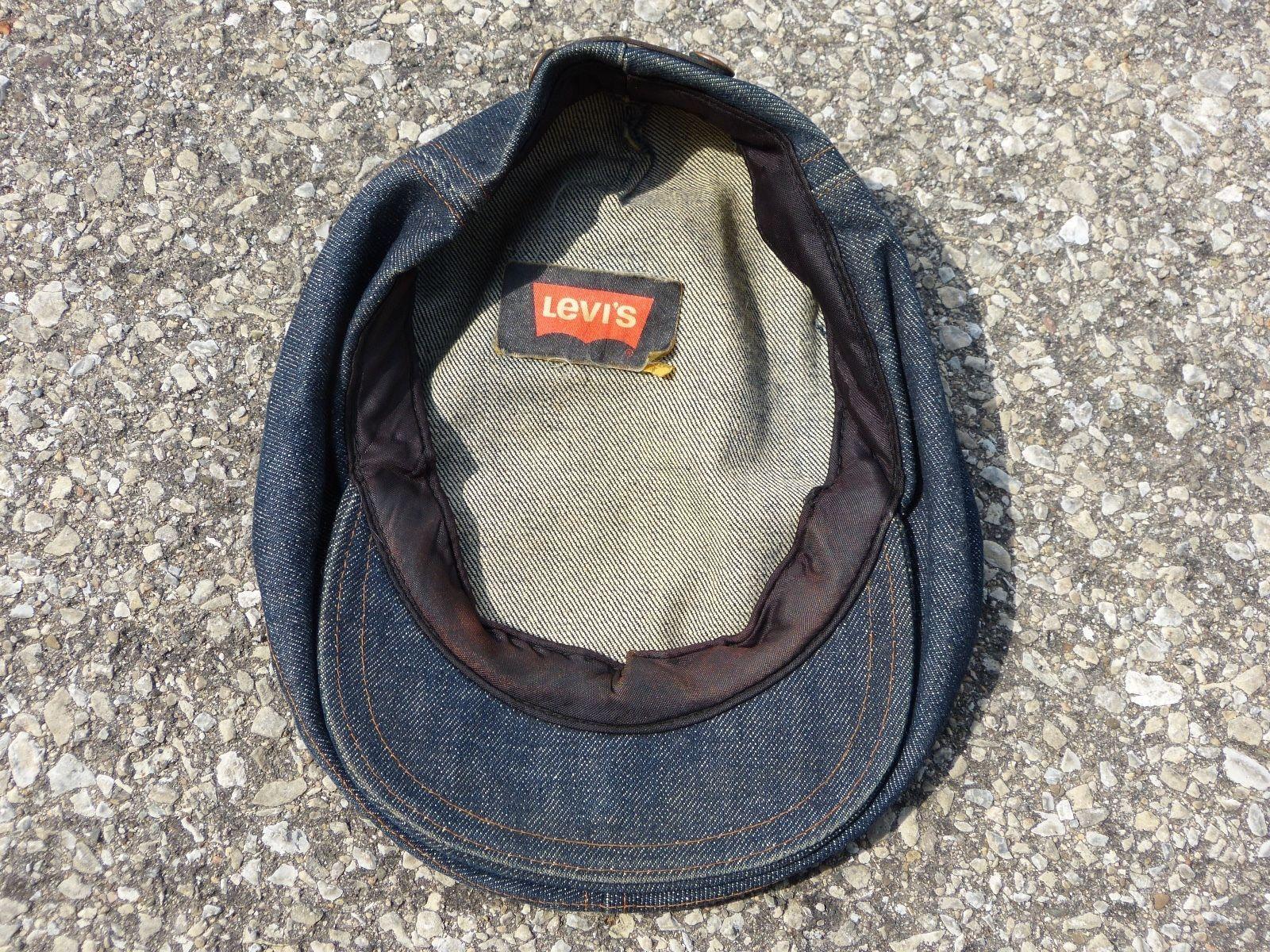 Vintage Levi s Denim Hat Newsboy LEVIS Orange Tab  197f924409d