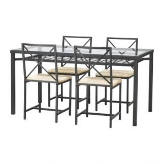 Se vende mesa con 6 sillas negro vidrio ikea segunda - Regalo muebles en madrid ...