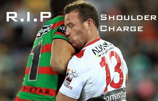 R I P Nrl Shoulder Charge Like If Your Against It With Images Rugby League Rugby Rugby Union