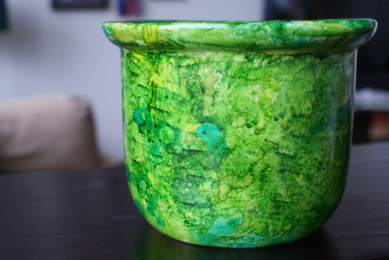 Large Green Kitchen Utensil Holder, Ceramic Utensil Holder, Large Utensil  Crock, Large Ceramic