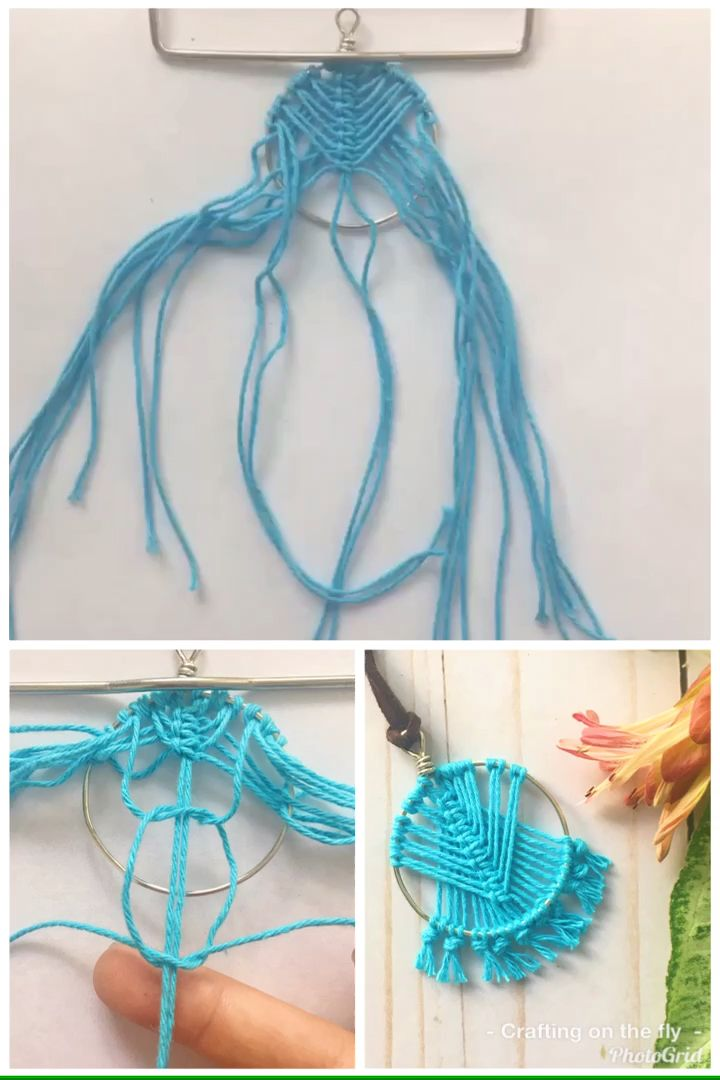 Learn how to quickly make this pendant necklace using 1 main Macrame knot in this beginner Macrame Tutorial