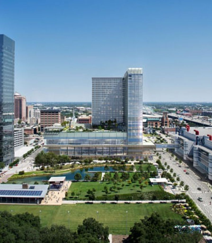 Texas Shaped Pool To Open In New Houston Hotel Houston Hotels New Downtown Marriott Hotels