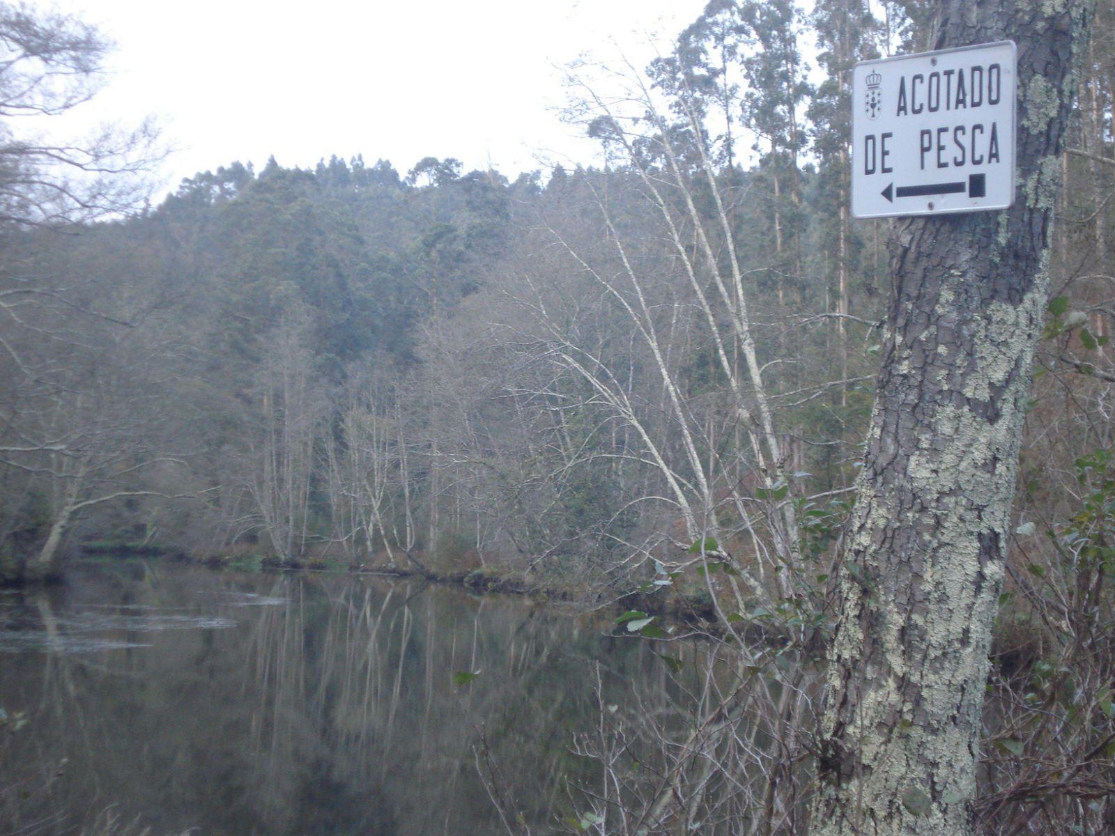 Cartel coto de pesca río Xubia. CC by Virginia Basanta Rodríguez