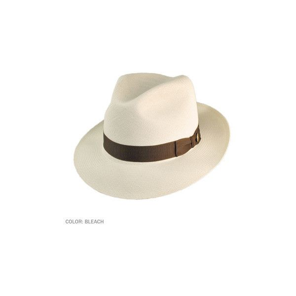 Stetson Ibarra Grade 20 Panama Hat (Bleach) ❤ liked on Polyvore