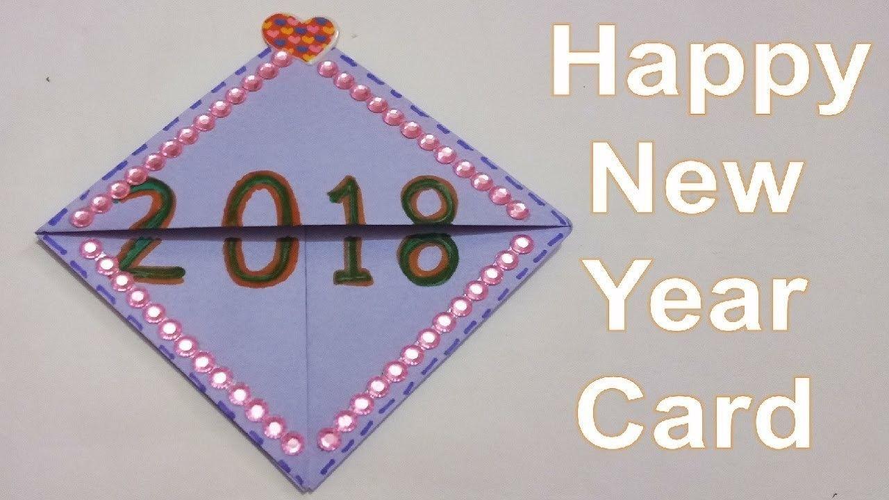 How To Make Happy New Year Greeting Card 2018 Handmade Greetings