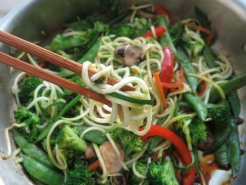 Stir Fry Veggie Zoodles {Recipe Makeover} - The Nourishing Home
