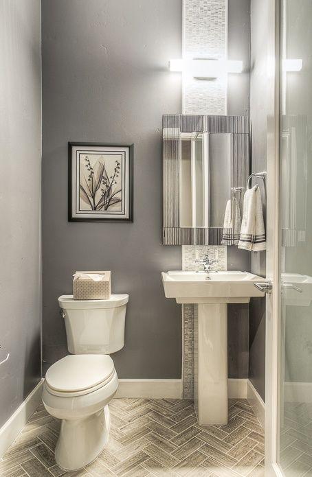 Modern Powder Room With Majestic Mirror Contemporary Rectangular