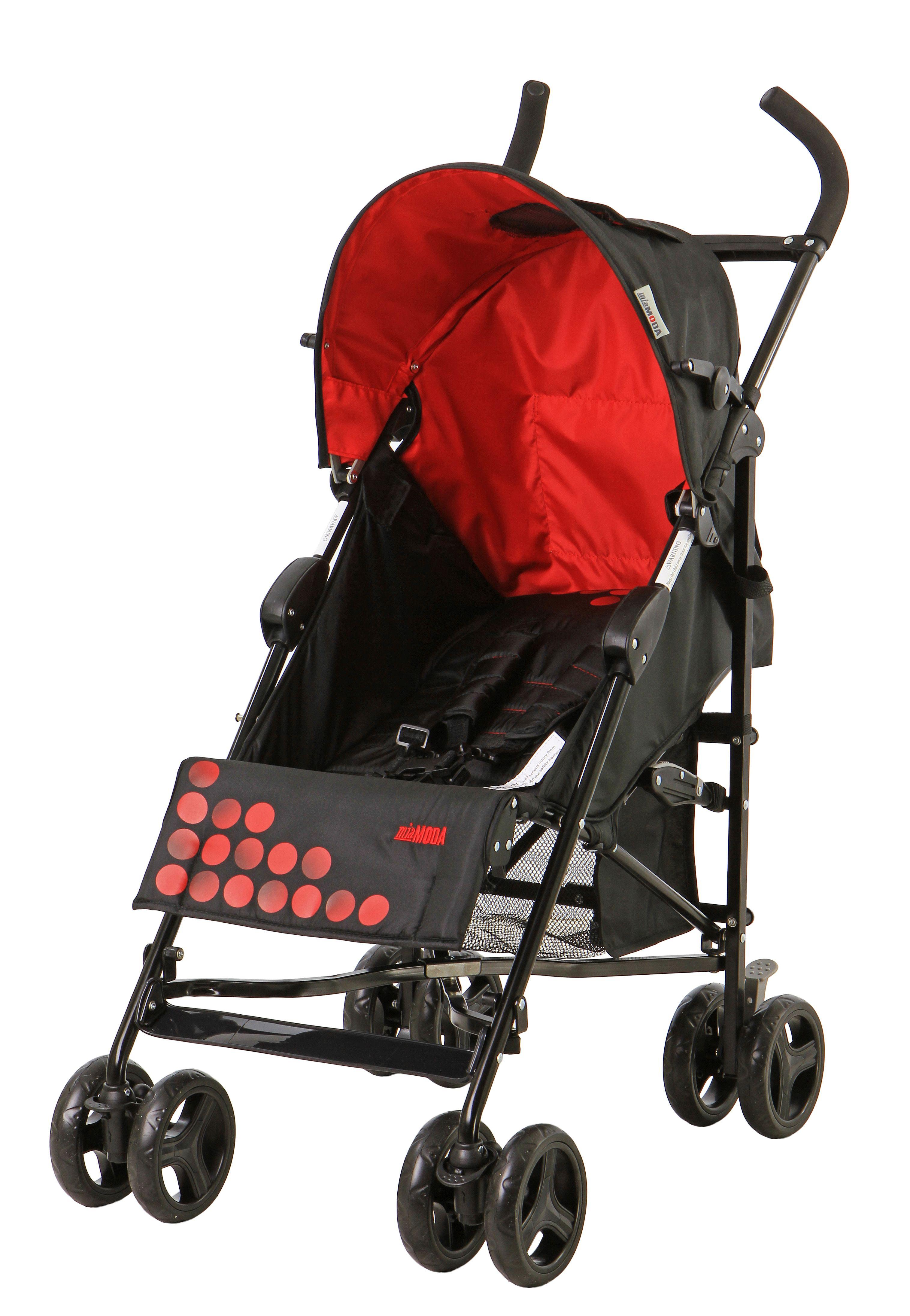 Mia Moda Facile Umbrella Stroller Black/Red Baby Baby Car