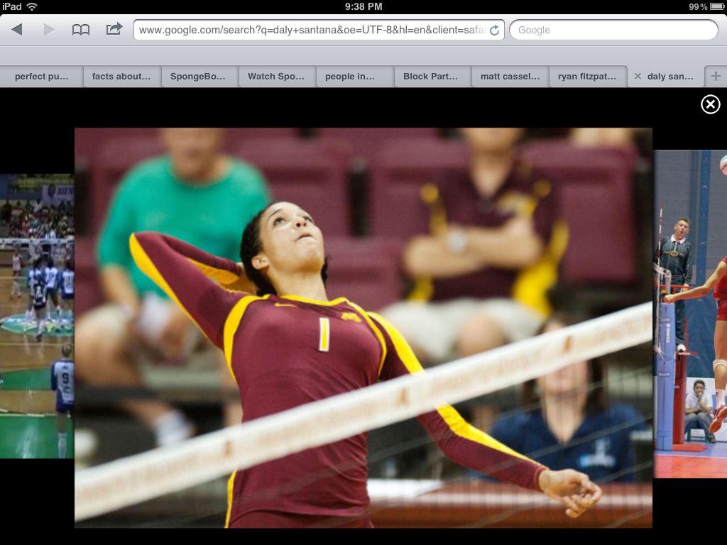 Daly Santana 1 Minnesota Gophers Volleyball Players Athlete