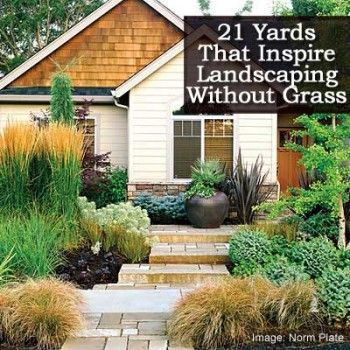 21 yards inspiring landscaping without grass grasses - Backyard ideas without grass ...