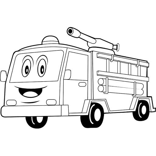 Mewarnai Gambar Mobil Penyemprot Air Warna Gambar Mobil