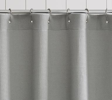 Waffle Weave Cotton Shower Curtain Gray Shower Curtains Waffle Weave Shower Curtain Stall Shower Curtain