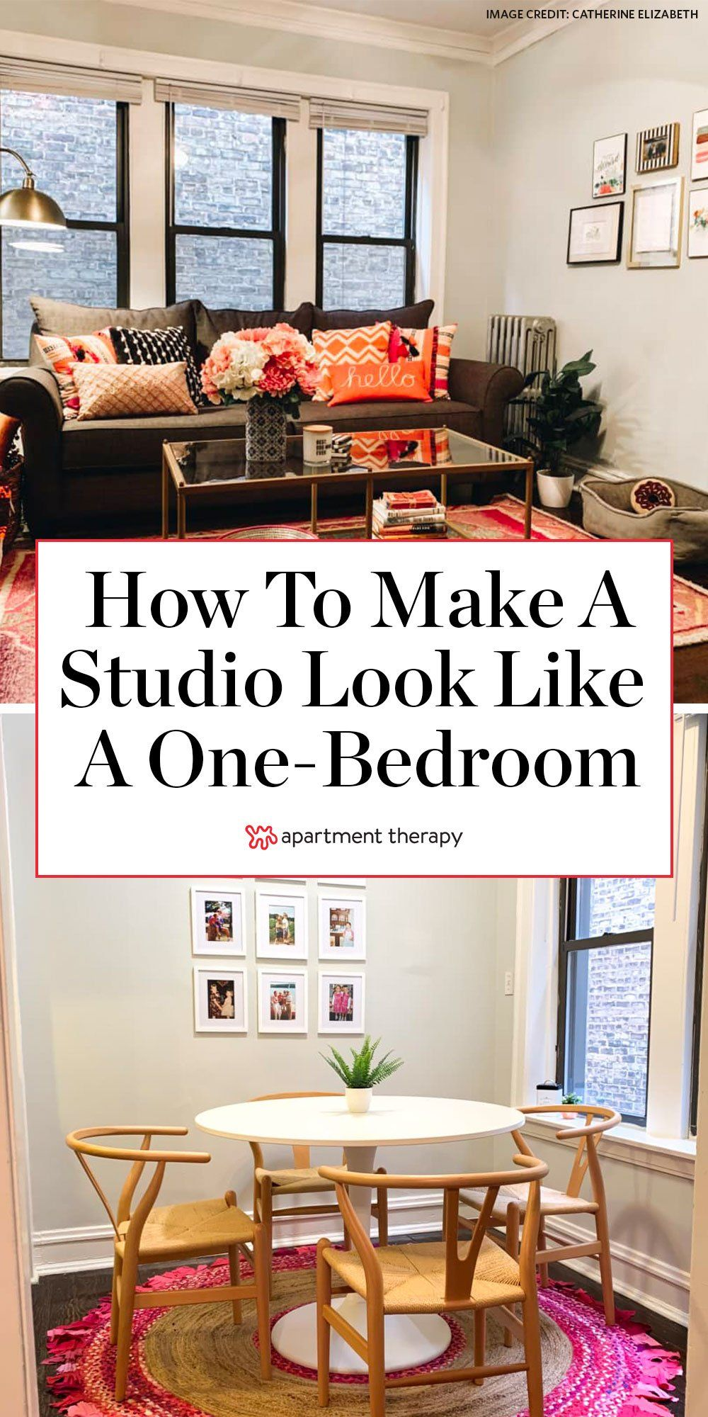 This 500 Square Foot Studio Is Now A One Bedroom Thanks To A Clever Bed Placement In 2020 Studio Apartment Living Apartment Living Studio Apartment