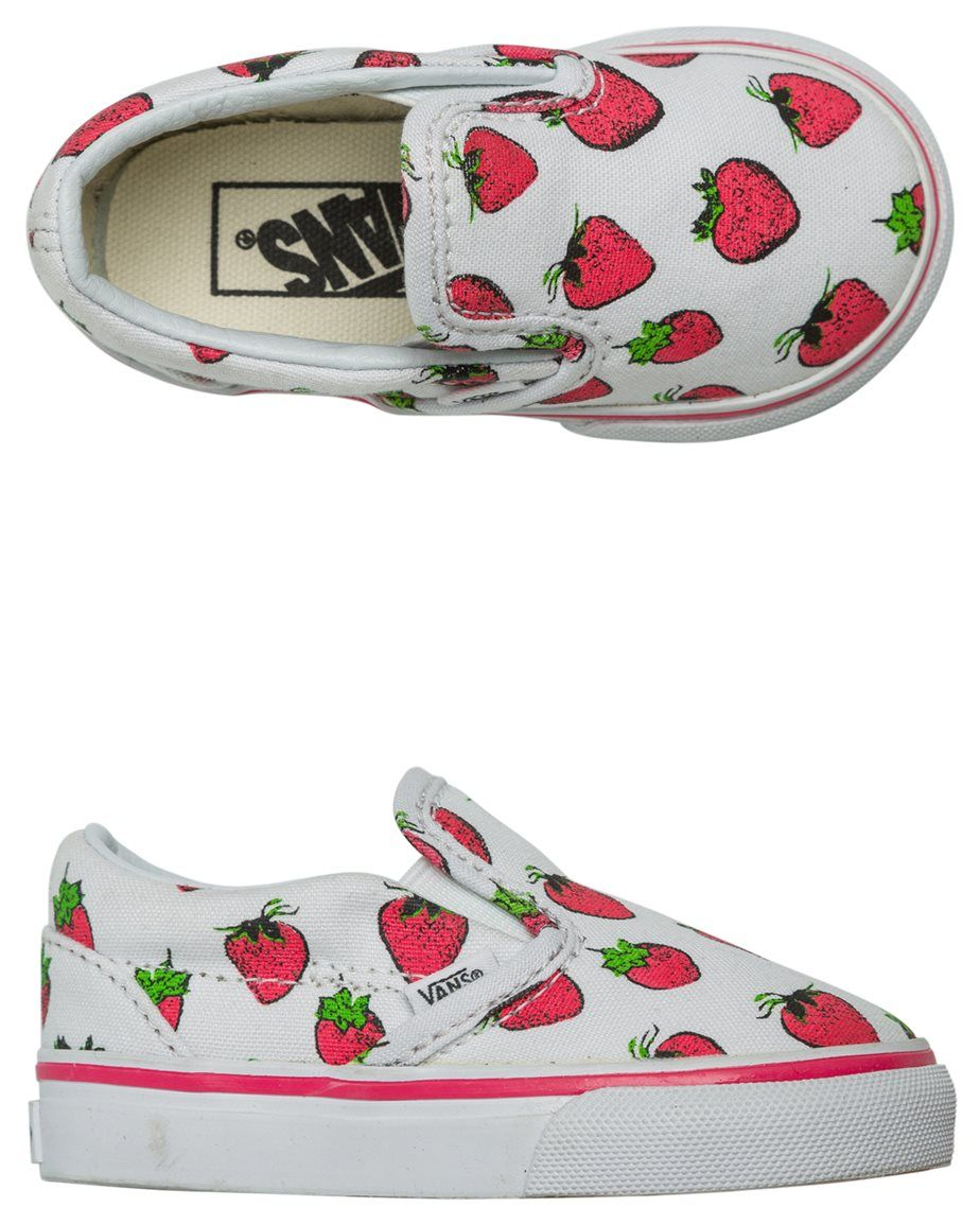 VANS TODDLER CLASSIC SLIP ON STRAWBERRIES SHOE Image | Just