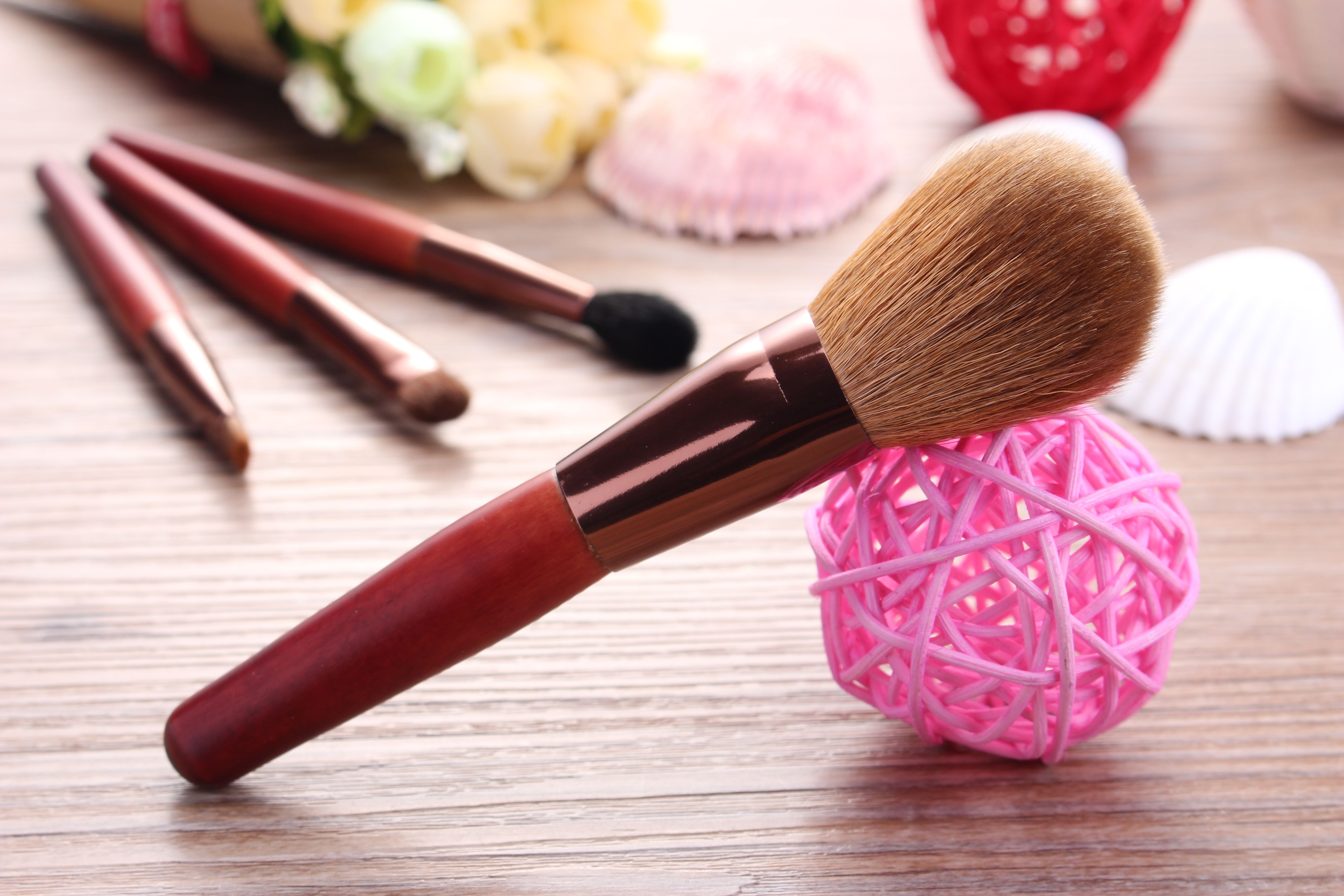 10 PC. Ombré screw handle make up brushes Boutique (With