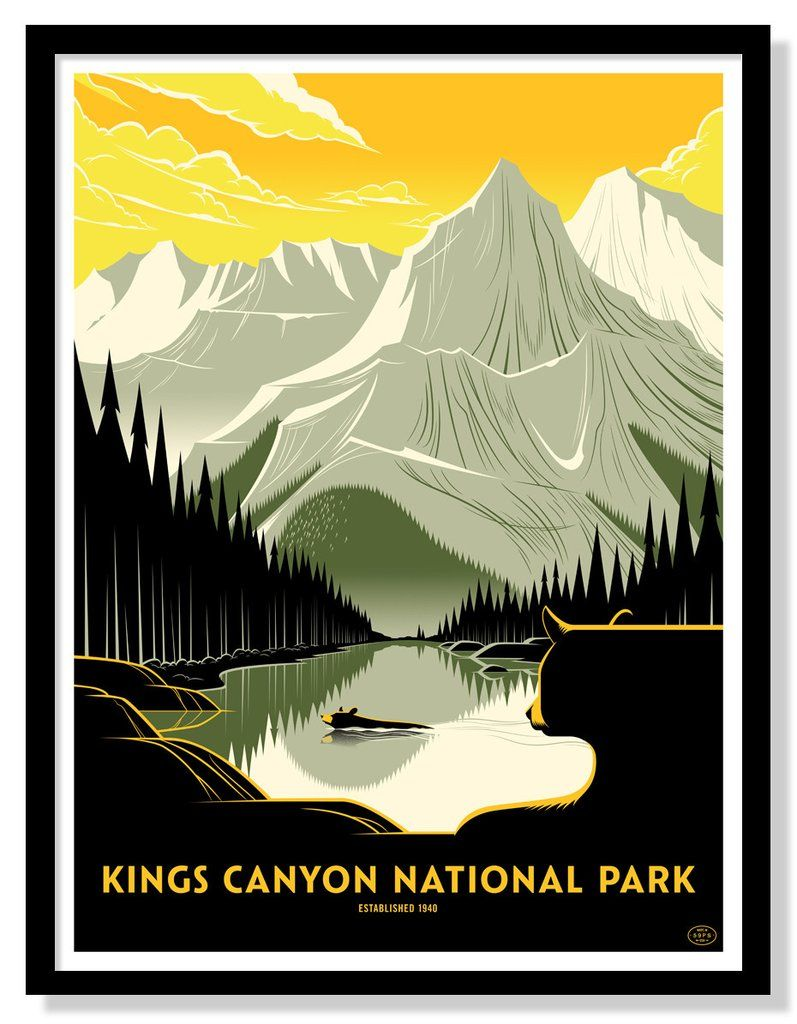 Kings Canyon National Park in 2020 Vintage national park