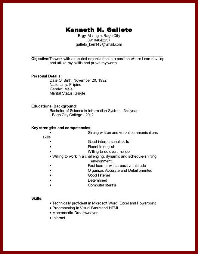 Sample Resumes For College Students. New School Resume Formats