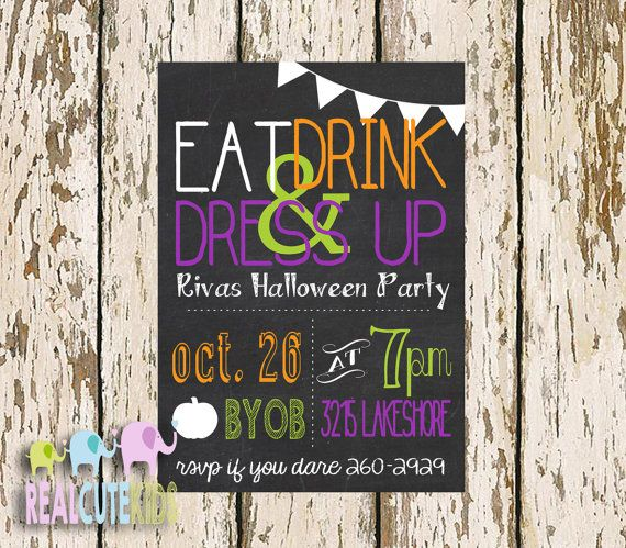 Halloween Invitation, Costume Party, Kids Halloween Party Invite - halloween poster ideas