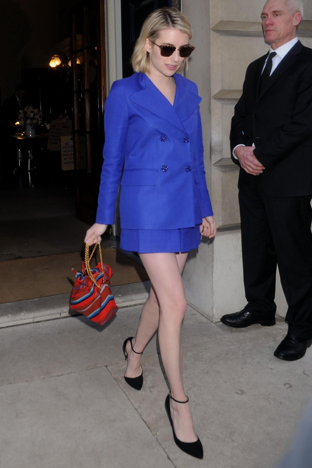 Emma Roberts Mulberry Show at London Fashion Week February 16 9a38f5eda509f