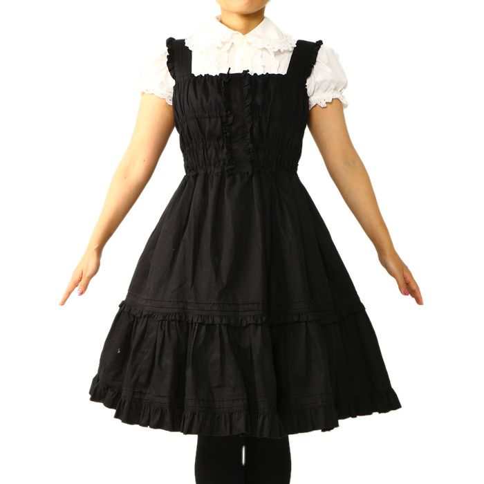 Jumper dress Personal Brand:Feast of the Temple of Doom ¥ 5,990 including tax Length: 125㎝ Polyester: 100% Shearing: Yes Rank B: dirt-free used clothes Used Lolita clothing shop Wunderwelt http://www.wunderwelt.jp/products/detail913.html
