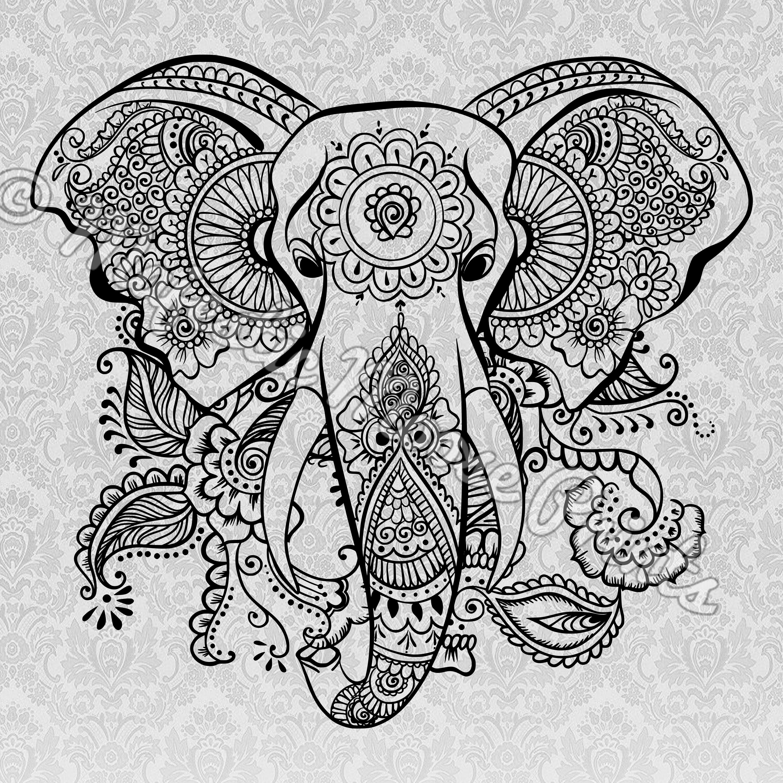 Tribal Elephant Svg Majestic Moose Prints Tribal Elephant Mandala Elephant Elephant Drawing